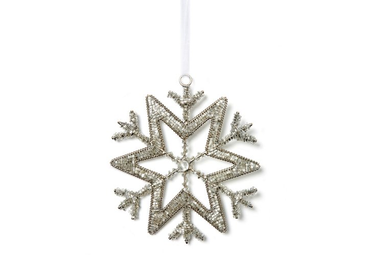 Set of 2 Silver Snowflakes, Dasher