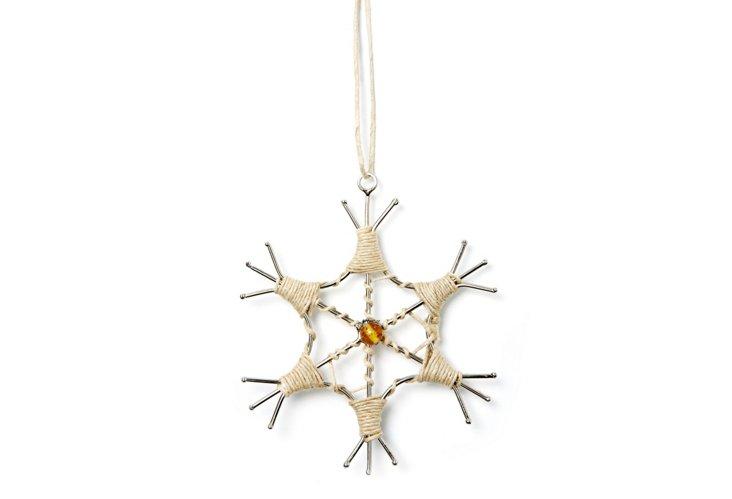 S/4 Snowflakes w/ Thread Work, Tinsel