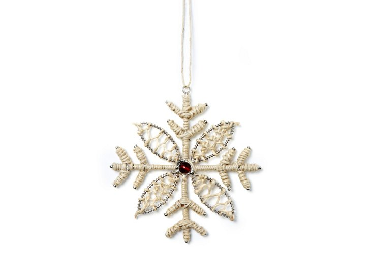S/4 Snowflakes w/ Thread Work, Merry