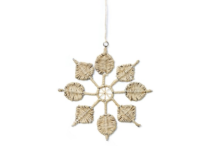 S/4 Snowflakes w/ Thread Work, Natural