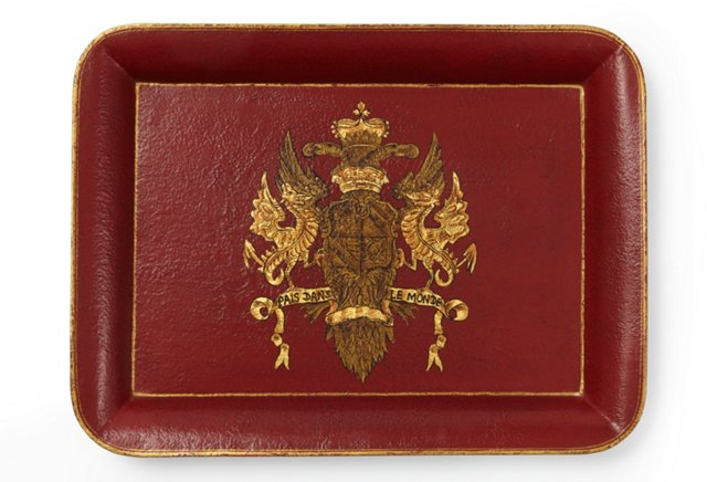 Coat of Arms Tray, Red