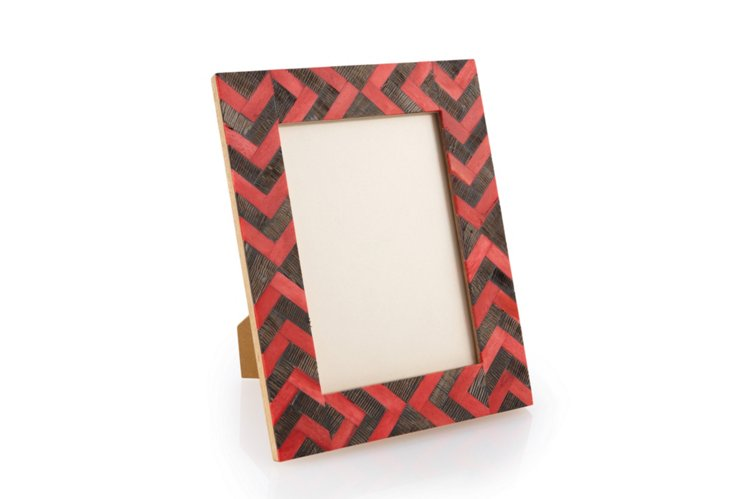 5 x 7 African Arrow Frame, Red/Natural