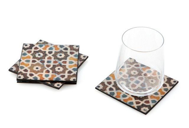S/4 Tile-Patterned Coasters