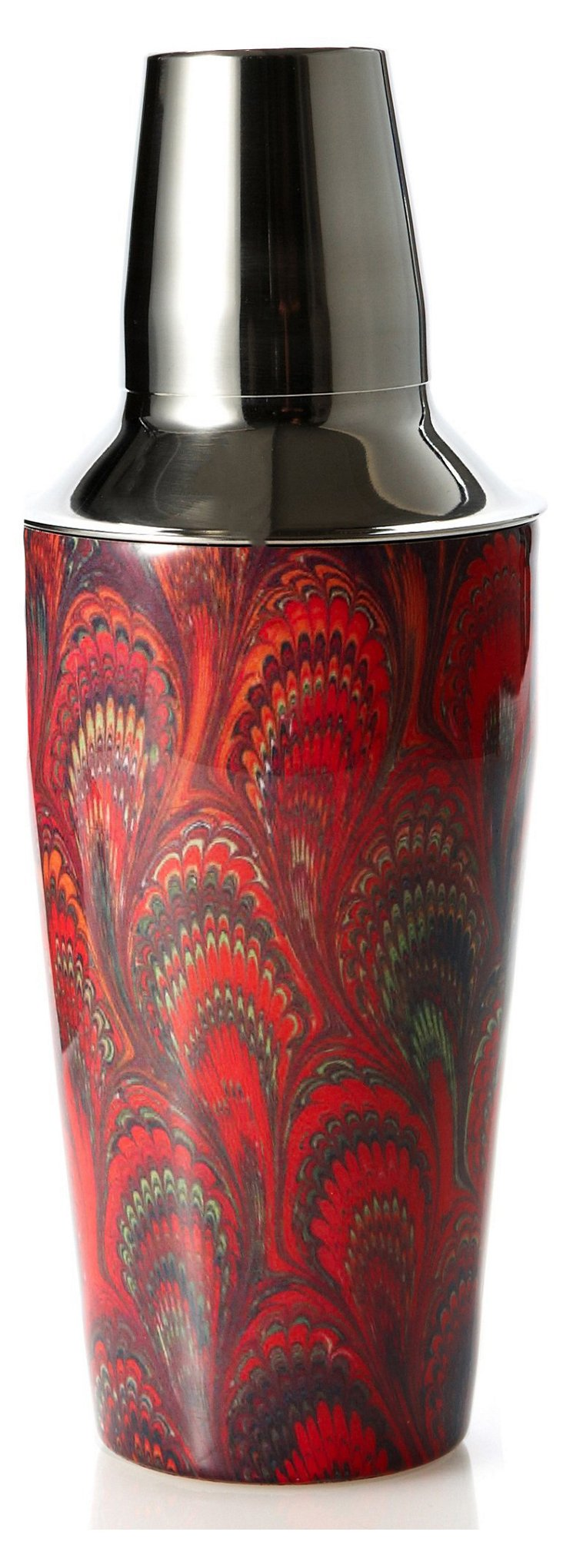 Paisley Cocktail Shaker, Red
