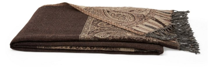 Nador Throw, Brown/Beige