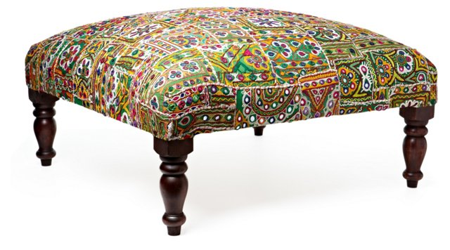 Avalon Table, Green/Multi