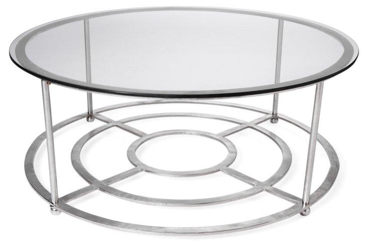 Monde Coffee Table, Silver