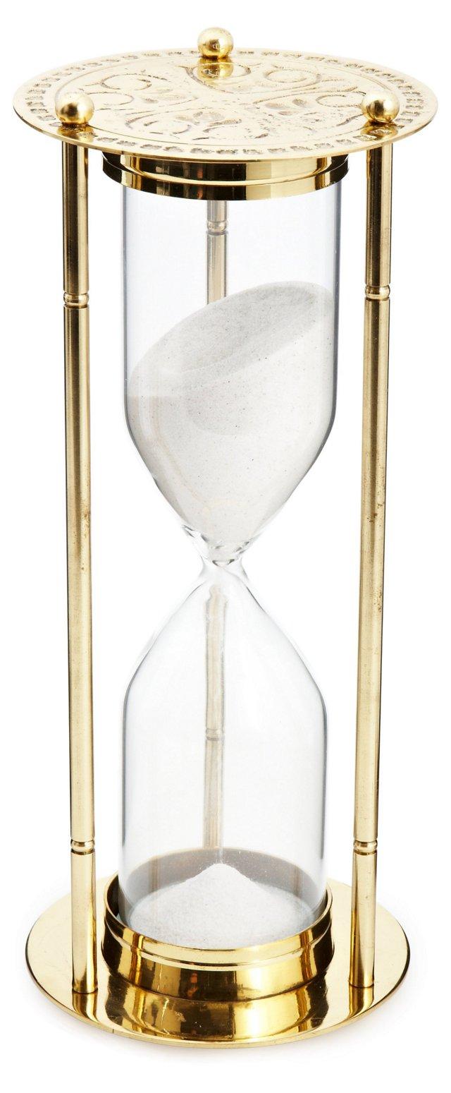 "11"" Sand Timer, Gold"
