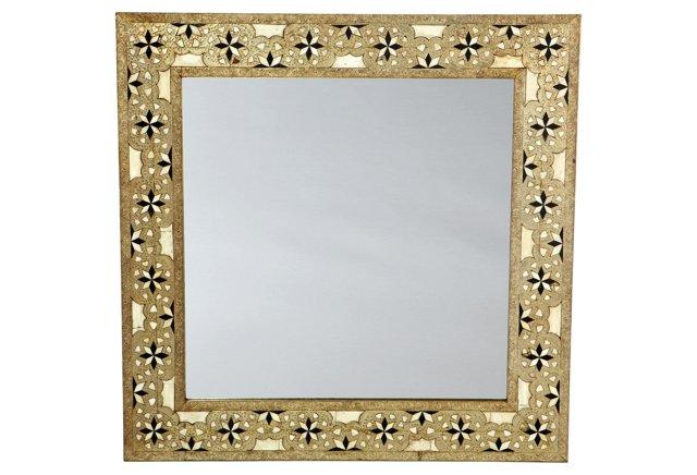 "Laila 36"" Bone Inlay Mirror"