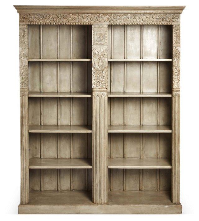 Jasper Double Bookshelf, Gray