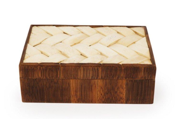 Lattice Bamboo & Bone Box