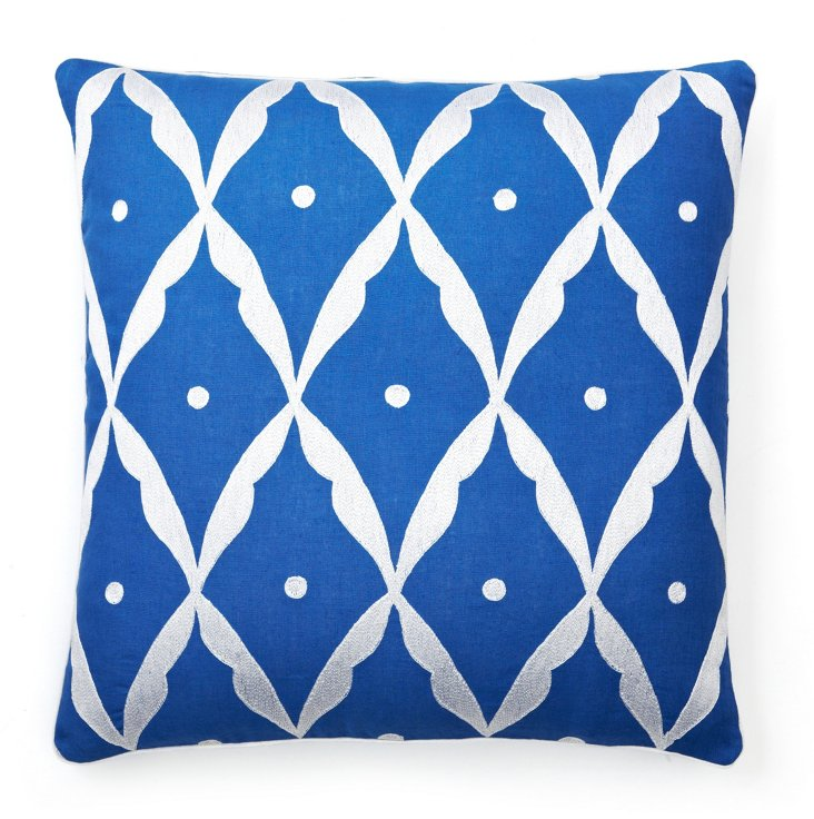20x20 Square Sultan Pillow, Cobalt