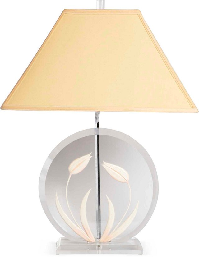 Vintage Lucite Table Lamp w/ Shade