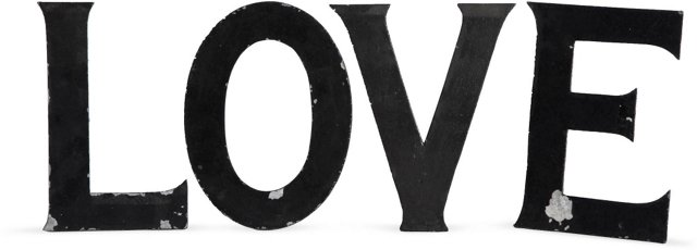 Vintage Marquee Letters, L-O-V-E