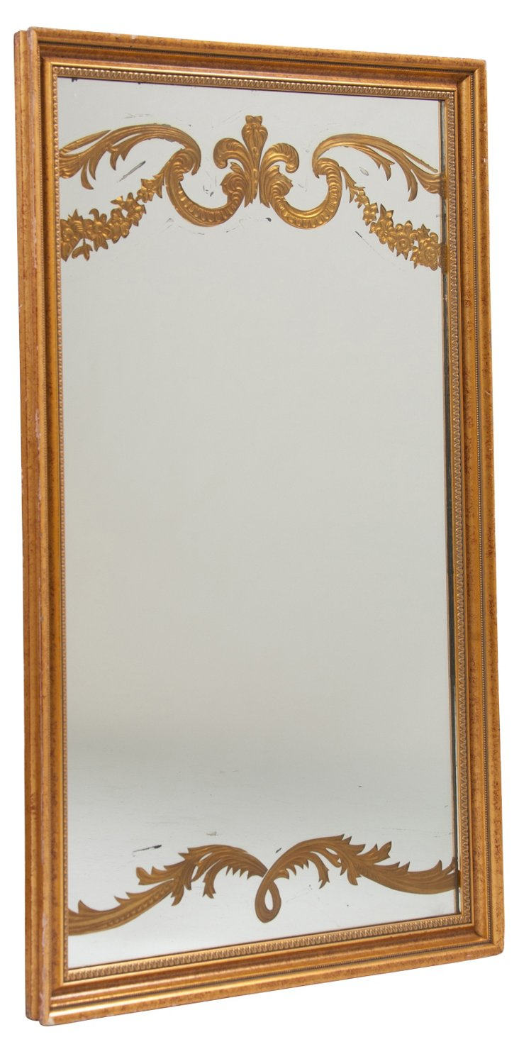 1950s Gilded Mirror
