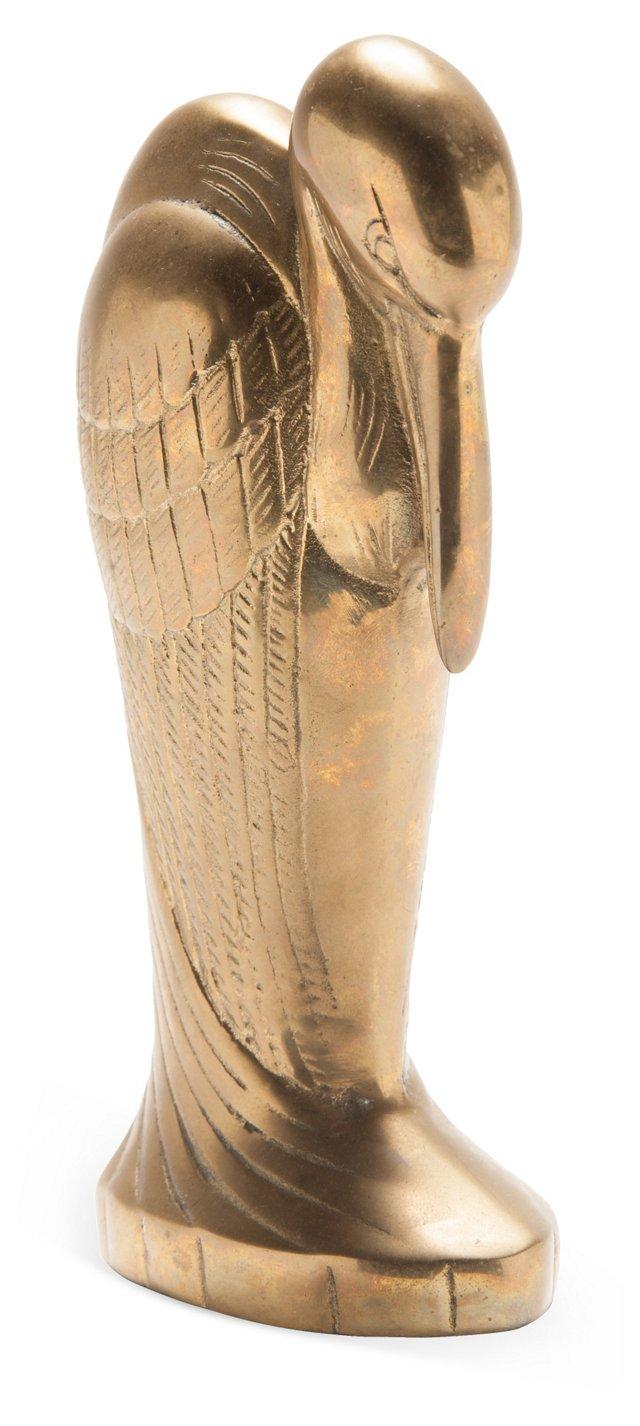 1970s Brass Bird Sculpture