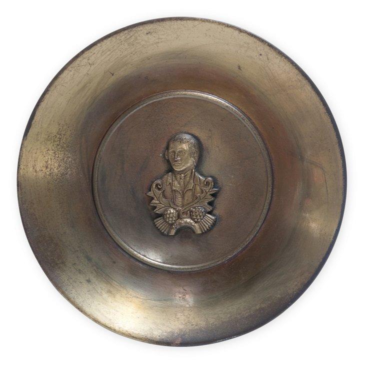 Brass Bust Plate