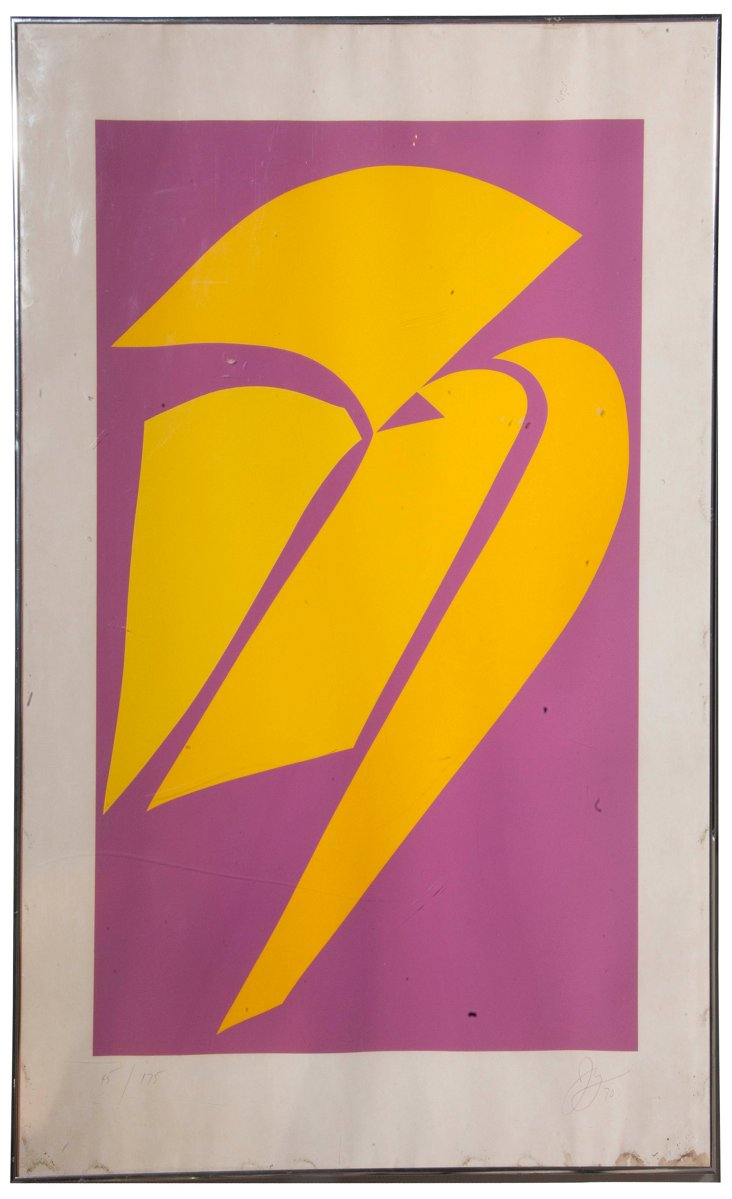 Youngerman Radiant Orchid Serigraph