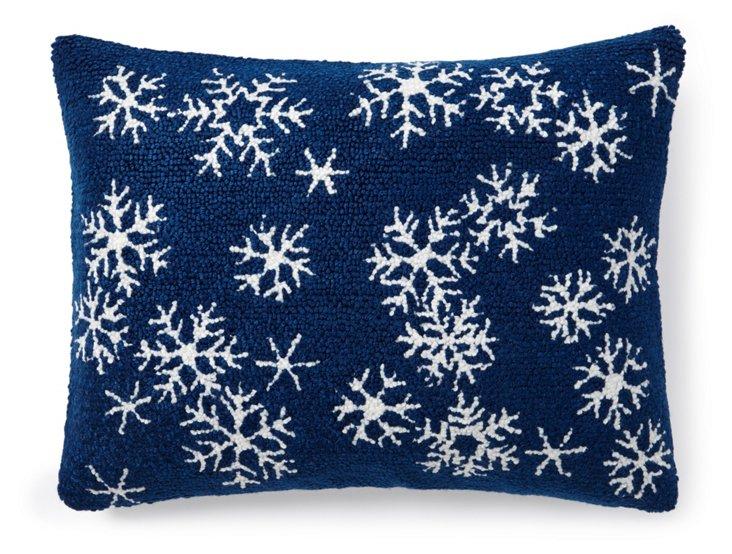Snowflakes 12x16 Pillow, Blue