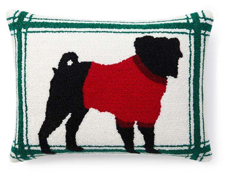 Terrier 12x16 Pillow, White