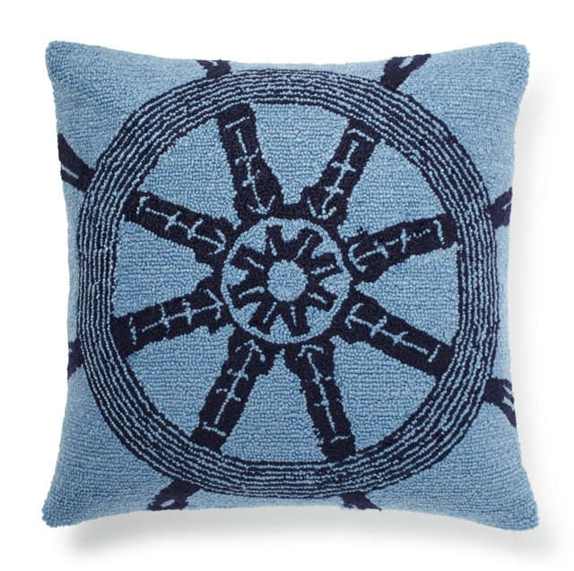 Helm 16x16 Pillow, Blue