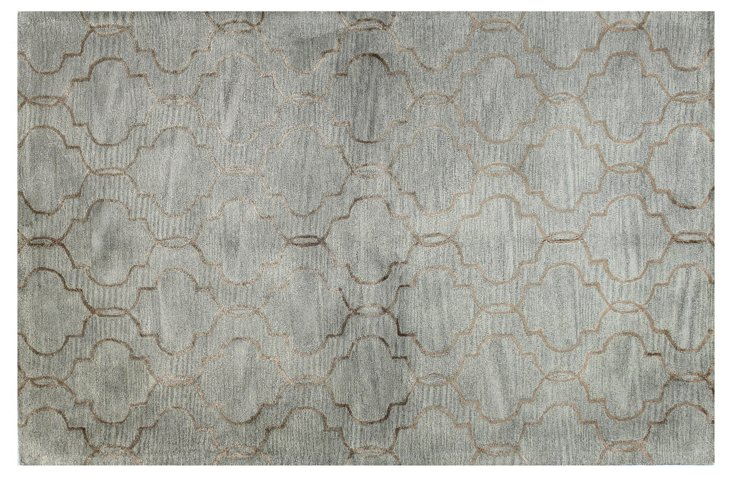 Curtain Rug, Silver/Copper