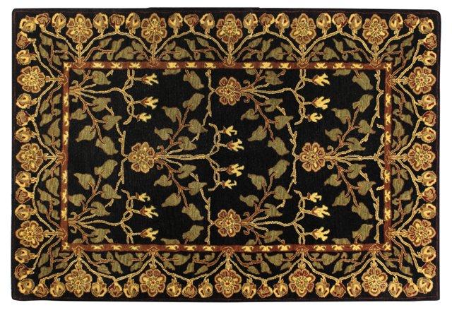 Crafts Rug, Black/Gold