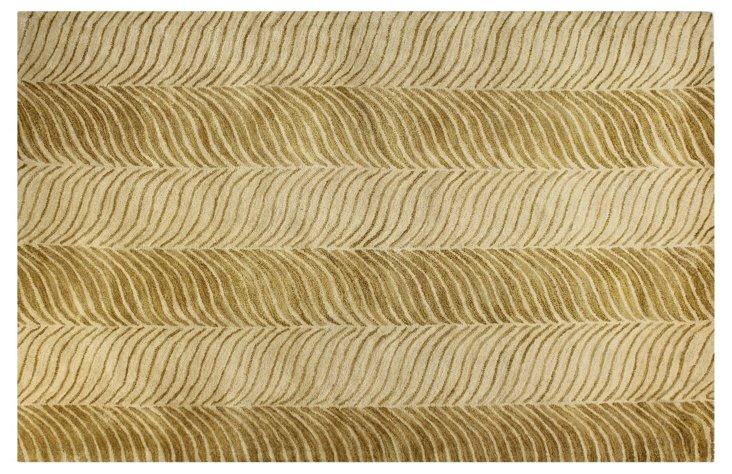 Tiger Tones Rug, Gold