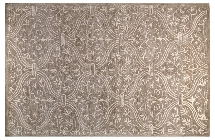 Curtain Rug, Taupe/Ivory