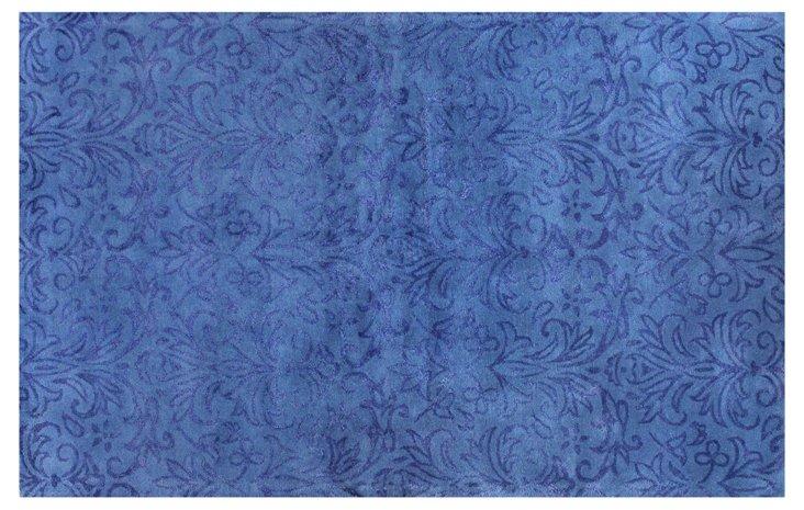 Damask Rug, Blue