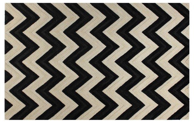 Ponca Rug, Ivory/Black