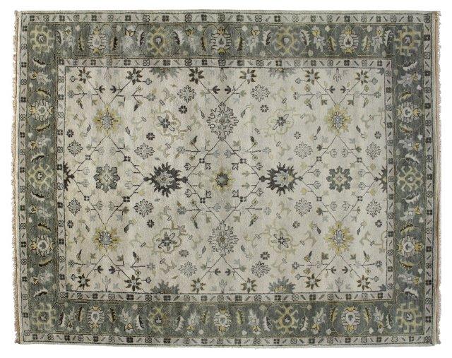 Indo Oushak Rug, Ivory/Gray
