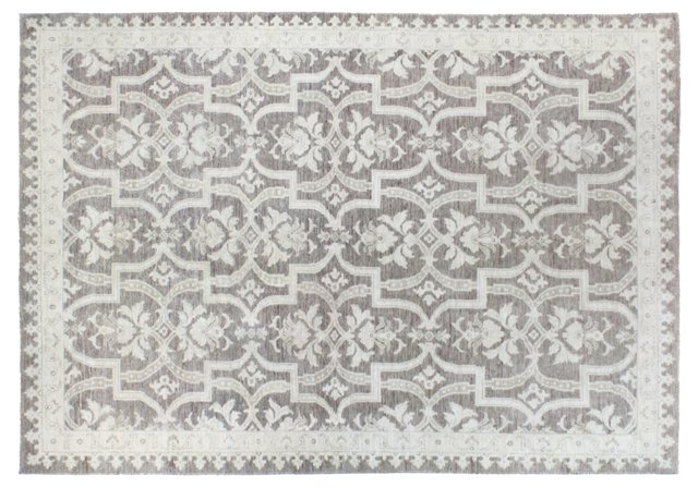 "6'x8'8"" Mansehra Rug, Taupe"