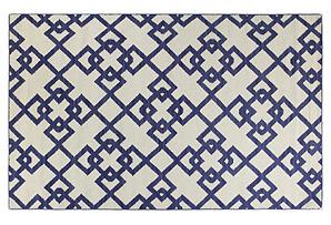 Everett Flat-Weave Runner, Blue