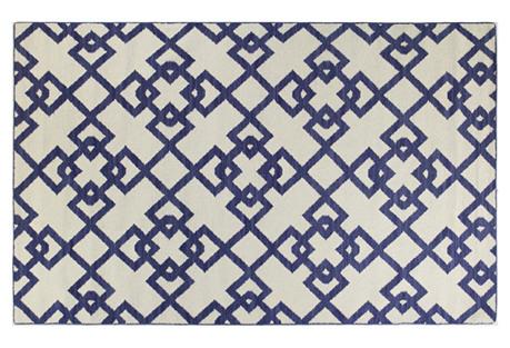 Everett Flat-Weave Rug, Blue