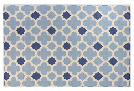 Zion Flat-Weave Rug, Blue