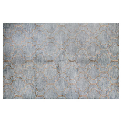 Curtain Rug, Gray/Blue