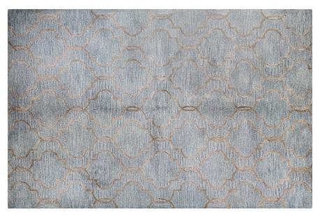 Curtain Rug, Gray/Blue