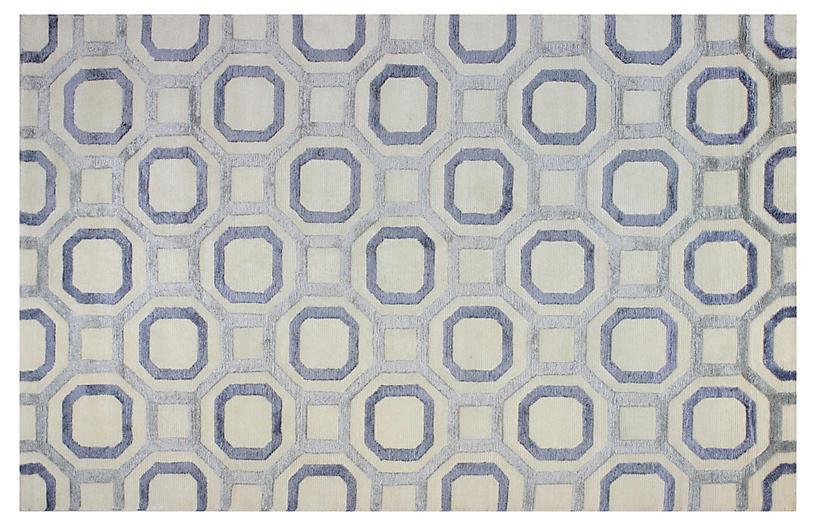 Emilie Rug Light Blue Ivory Rugs Under 400