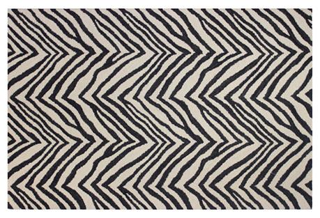 Tigard Rug, Ivory/Black
