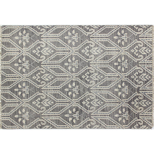 Olivia Hand-Knotted Rug, Gray