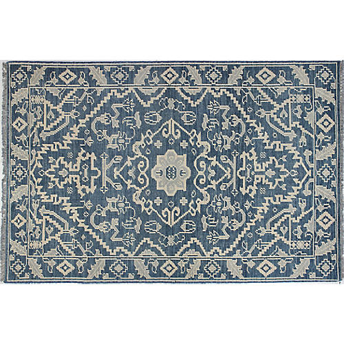 Ava Hand-Knotted Rug, Azure