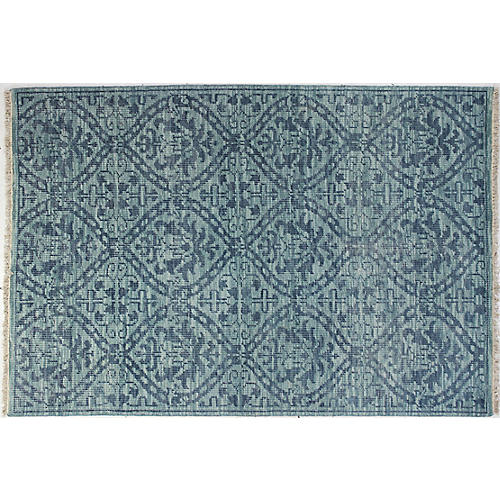 Imani Hand-Knotted Rug, Teal
