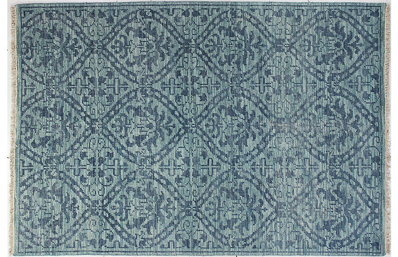 Imani Hand-Knotted Rug - Teal
