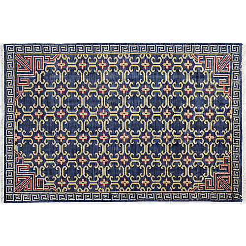 Iman Hand-Knotted Rug, Navy