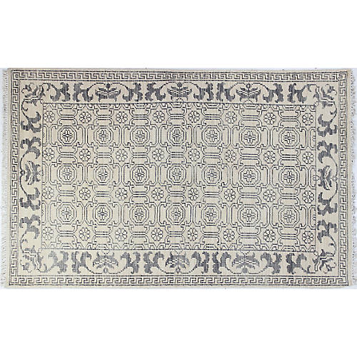 Simone Hand-Knotted Rug, Ivory