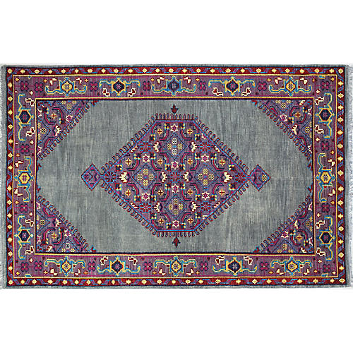 Avery Hand-Knotted Rug, Purple/Multi