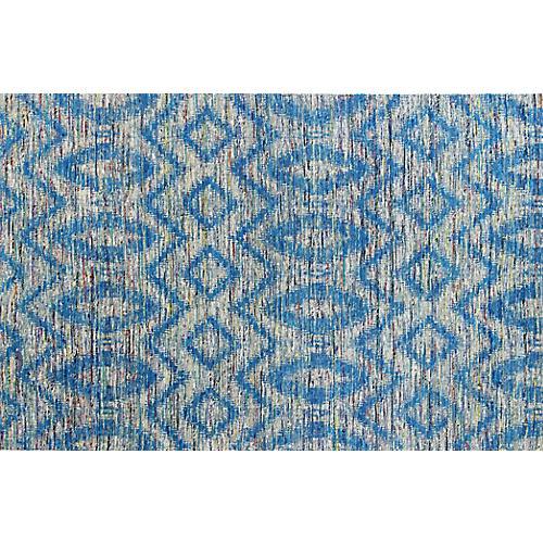 Skylar Hand-Loomed Rug, Blue/Gray