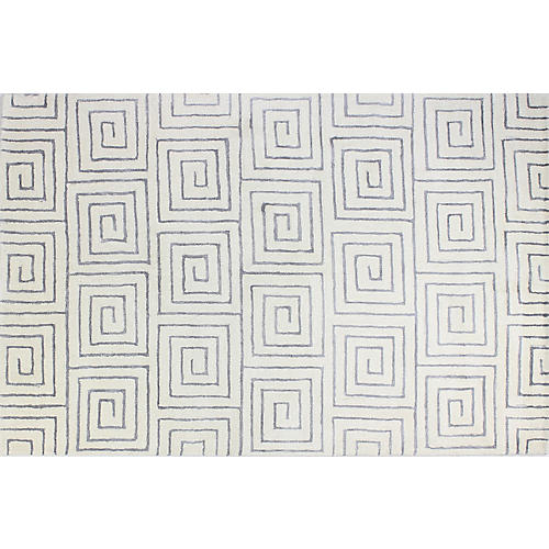Layla Rug, White/Gray