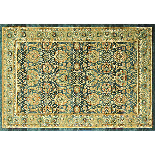 Crosby Rug, Teal/Multi